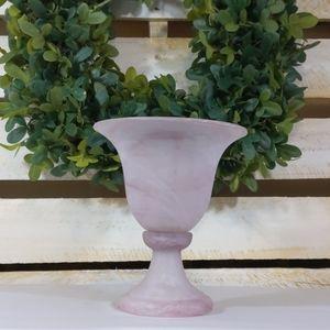 Marbled Turkish glass vase